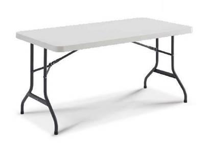 Tavolo Elettorale con gambe pieghevoli e piano in materiale plastico cm.152