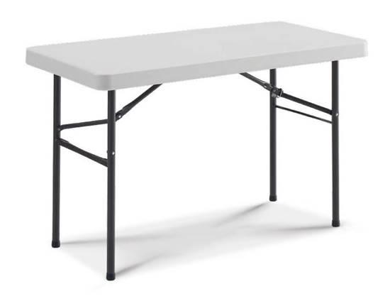 Tavolo Elettorale con gambe pieghevoli e piano in polietilene cm.122