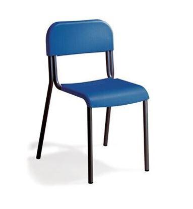 Sedia alunni con sedile e schienale in polipropilene ignifugo