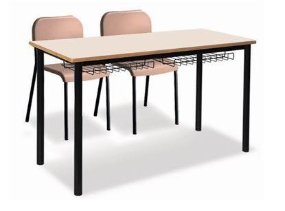 Banco-Tavolo biposto cm.130x50 con sottopiano in griglia