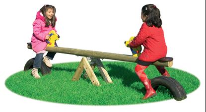 BILICO DOG-DOG oscillante a 2 posti con trave in legno