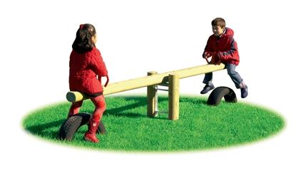 BILICO MONTANA oscillante a 2 posti con trave in legno