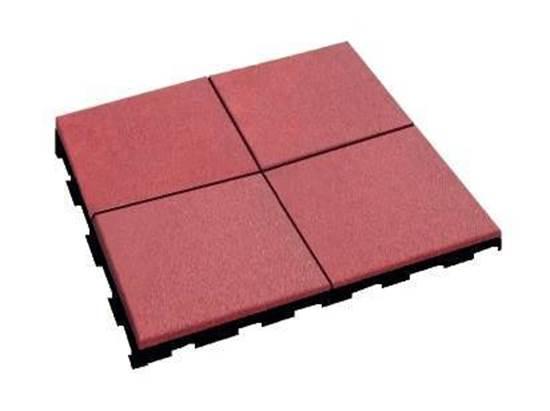 Pavimento antitrauma in gomma cm. 100x100x4 h