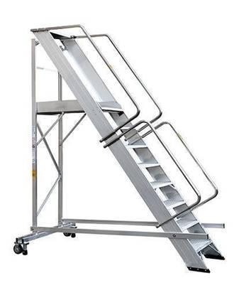 SCALA SUPER in alluminio con stabilizzatore a 8 gradini