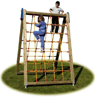 SARTIA GIUSY in legno con rete in corda bifacciale per arrampicata