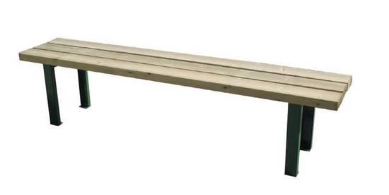 PANCA PINETA con supporti in acciaio e seduta in legno