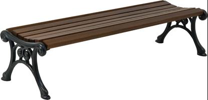 PANCA PARIS con supporti in ghisa e seduta in legno