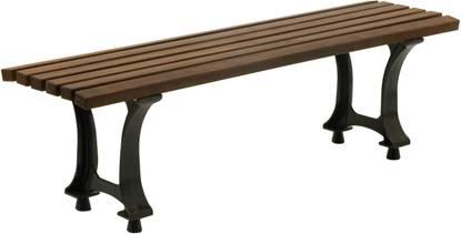 PANCA EMILIA con supporti in ghisa e seduta in legno
