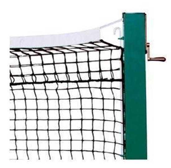 Rete Tennis regolamentare in materiale termoplastico completa di nastro e cavo in acciaio
