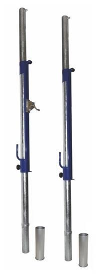 Impianto Pallavolo monotubolare in acciaio da interrare complete di bussole