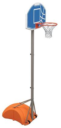 Set basket trasportabile con altezza regolabile fino a cm. 305, completo di base da riempire con ruote