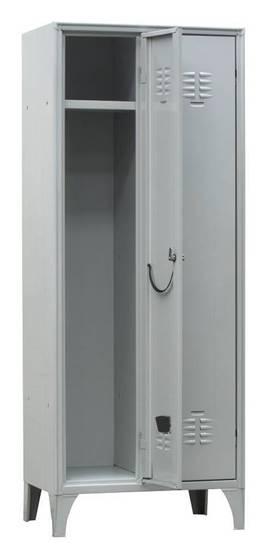 Armadio spogliatoio metallico a 2 ante con serratura