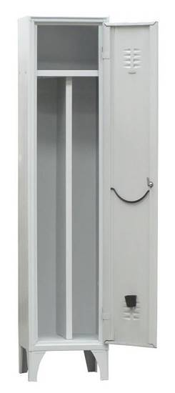 Armadio spogliatoio metallico a 1 anta con serratura completo di divisorio interno sporco/pulito
