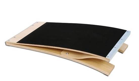 Pedana elastica in legno con piano in gomma