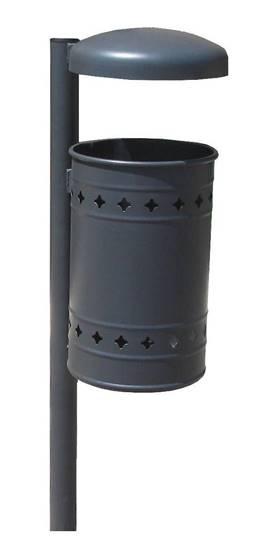 CESTINO STELLA in acciaio con palo con tettuccio