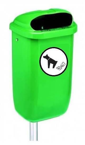 CESTINO BOLZANO in materiale plastico per raccolta deiezioni canine