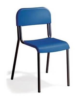 Sedia alunni con sedile e schienale in materiale plastico