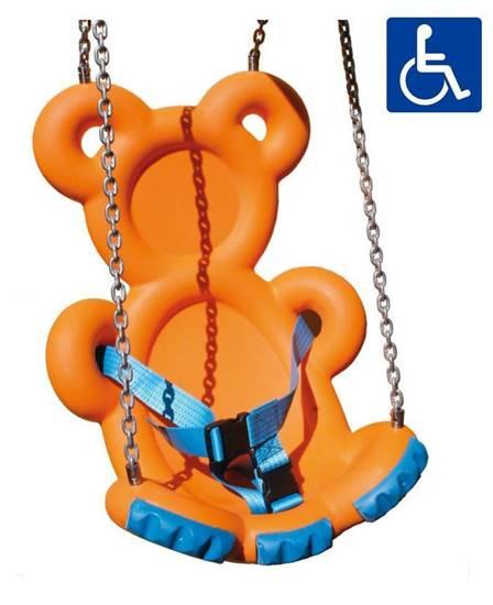 Sedile a forma di orsetto in polietilene riciclabile adatto anche per i bambini disabili