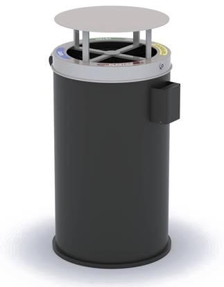 CESTONE PANAREA per 4 tipologie di rifiuti con tettuccio apribile e anelli fermasacco